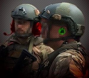 Over-the-ear headsets like the one on the left can be cumbersome, while the CLARUS XPR (on the right) is a lightweight option that doesn't compromise an officer's situational awareness. (photo/Silynx)