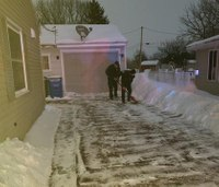 First responders help deliver baby, shovel snow for new parents