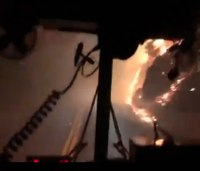 Watch: Firefighters post harrowing video of drive through Kincade Fire