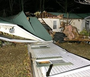 A suspected tornado killed multiple people in Alabama as a line of severe storms moved across the South overnight. (Bill Castle/abc3340.com via AP)