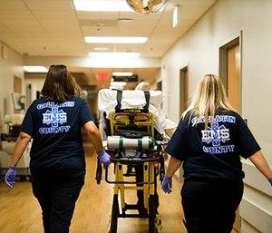 EMTs arrive at Saint Elizabeth