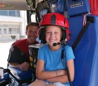 Photo of the Week: Girl meets the air-med crew who saved her life
