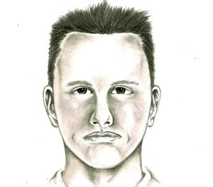 This undated artist rendition provided by the Las Vegas Metropolitan Police Department shows a composite sketch of a suspect whom they believed was involved in a road rage shooting in Las Vegas on Feb. 12, 2015.