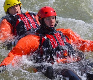 There are a number of safety threats in a swift water rescue beyond drowning.