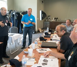 First Tactical CEO Dan Costa speaks to his team at a recent sales meeting.