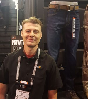 5.11 Tactical spokesman Michael Anderson delighted Doug Wyllie with the news that the company is now offering a line of tactical jeans.