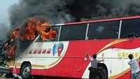 Bus with tourists catches fire in Taiwan, killing 26
