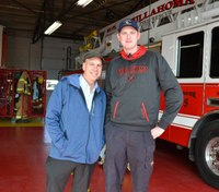 7-foot firefighter measured by Guinness Book of World Records