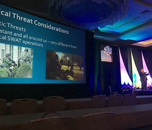 Dr. David Tan speaks at the 2016 National Association of EMS Physicians annual meeting. (Photo by Arthur Hsieh)