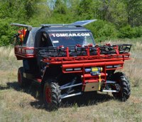 Off-road firefighting TOMCAR vehicle on display at FDIC