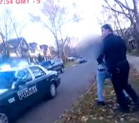 Video: Ohio cops pursue armed teen who crashed stolen car