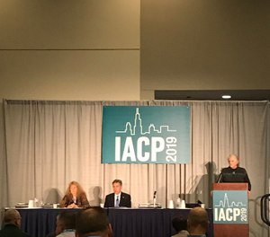 The Team Two panel talks about the program's successes during a session at the 126th International Association of Chiefs of Police Conference. (Photo/PoliceOne)