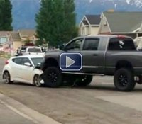Video: Kids nearly hit as teen speeds through park during pursuit