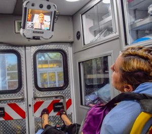 Century Ambulance has partnered with medical leaders in comprehensive stroke management to leverage telemedicine technology to connect with the receiving neurologists to perform this NIHSS assessment in the field. (Photo/Century Ambulance)