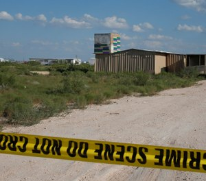 Crime scene tape surrounds the home of Seth Aaron Ator, the alleged gunman in a West Texas rampage Saturday, on Monday, Sept. 2, 2019, near Odessa, Texas. (AP Photo/Sue Ogrocki)