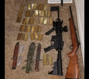 Guns, knives and ammunition were found at the home of a man who repeatedly threatened to kill sheriff's deputies. (Photo/TNS)