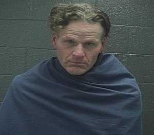 Vincent Persinger, 50, was arrested for allegedly stealing an ambulance and crashing it into another vehicle.