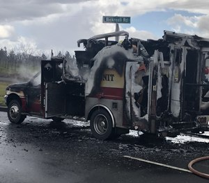 A West Valley Fire District ambulance caught fire during a patient transport on Tuesday.