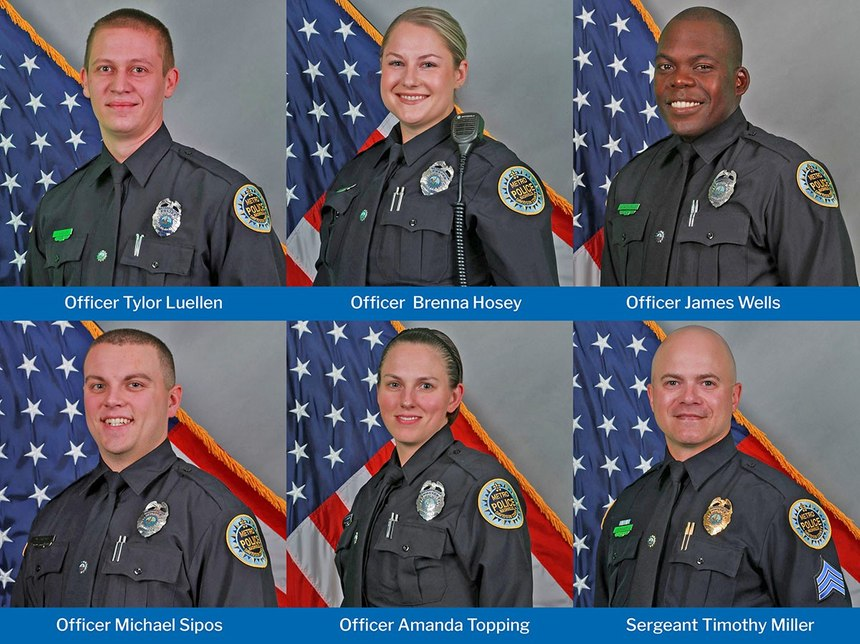 Team of six officers recognized for their quick thinking and brave actions as a bomb threat became a reality in downtown Nashville, Tenn. (Courtesy photo)