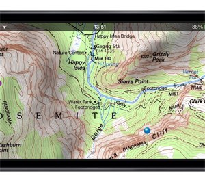 An example of Topo Maps' topographic imaging on an iPhone. (Topo Maps Image)