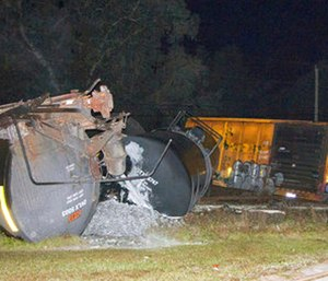 State officials are investigating the crash. (Polk County Fire Rescue via AP)
