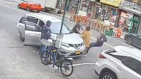 Video: Elderly NYPD traffic agent shoved to ground over ticket; suspect sought