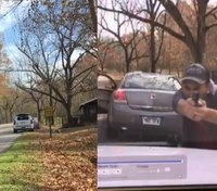 Dashcam video shows dramatic Ark. traffic-stop shootout