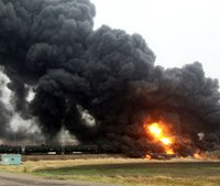 Oil train derailment prompts evacuation in ND town