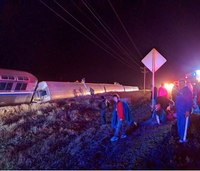 Amtrak train derails in Kan., 29 hurt