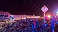 Amtrak train derails in Kan., 29 hurt