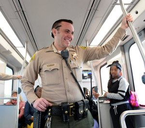 Los Angeles County Sheriff's Deputy Austin Guastialli is one of a dozen known transgender deputies in the department