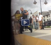 Video: NJ couple attacks transit cop on rush-hour train