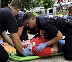DCAP-BTLS is used to assess trauma patients. (Photo/Ray Kemp)