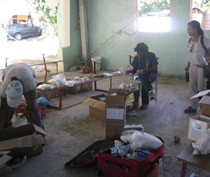 EMS professionals work in austere conditions in Haiti.