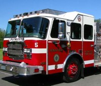 Firefighters likely save station after quickly dousing apparatus blaze