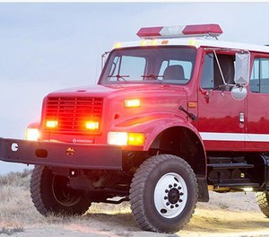 The BB-4 series of multi-stage high pressure pumps quickly became a popular pump for use on wildland fire apparatus. (Image WATERAX)