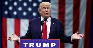 In this Aug. 1, 2016 file photo, Republican presidential candidate Donald Trump speaks in Columbus, Ohio. (AP Photo/Evan Vucci)