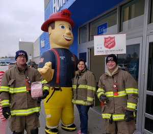 Five groups of first responders are competing in the Salvation Army's
