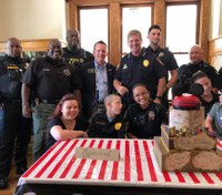 Ga. cops throw birthday party for boy with cerebral palsy
