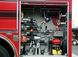 The Ultimate is a PTO-driven hydraulic rescue system. (Image Amkus Rescue Systems)