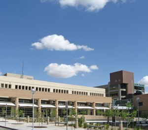 The University of New Mexico Hospital has banned San Juan Regional Medical Center from landing its helicopters on the hospital's helipad for 10 days after a reported policy violation. (Photo/AllenS, Wikimedia Commons)