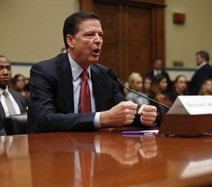 FBI Director James Comey testifies on Capitol Hill in Washington, Wednesday, Sept. 28, 2016, before the House Judiciary Committee hearing on 'Oversight of the Federal Bureau of Investigation.' (AP Photo/Pablo Martinez Monsivais)