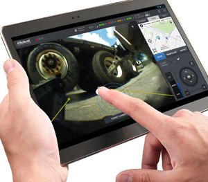 The uPoint MRC system simplifies robot operations such as driving, manipulation and inspection using intuitive touchscreen technology.