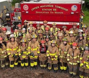 Volunteers from the Upper Macungie Fire Station 56 pose for a group shot.