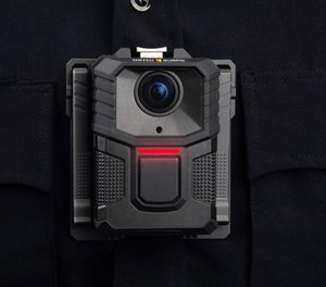 The new WatchGuard V300 body-worn camera from Motorola Solutions features a detachable 12-hour swappable battery pack to enable continuous operation, as well as secure wireless uploading and the ability to capture video after the fact.