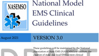 Comment now on Model EMS Clinical Guidelines draft Version 3