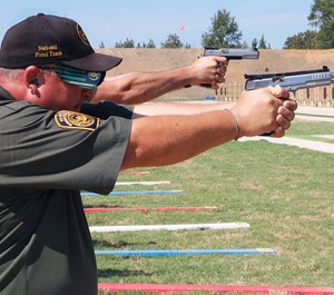 Robert Vadasz participates in the annual NRA National Police Shooting Championship in Pearl, Miss.