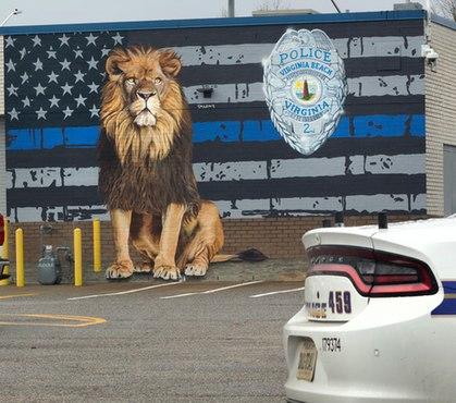 Va. police unveil new mural honoring LEOs
