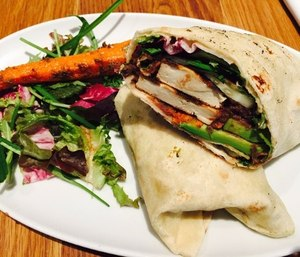 Wraps of vegetables are a tasty and healthy on-the-go meal for EMS providers.