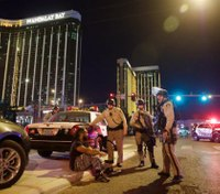 Vegas security guard shot before rampage appears to have vanished